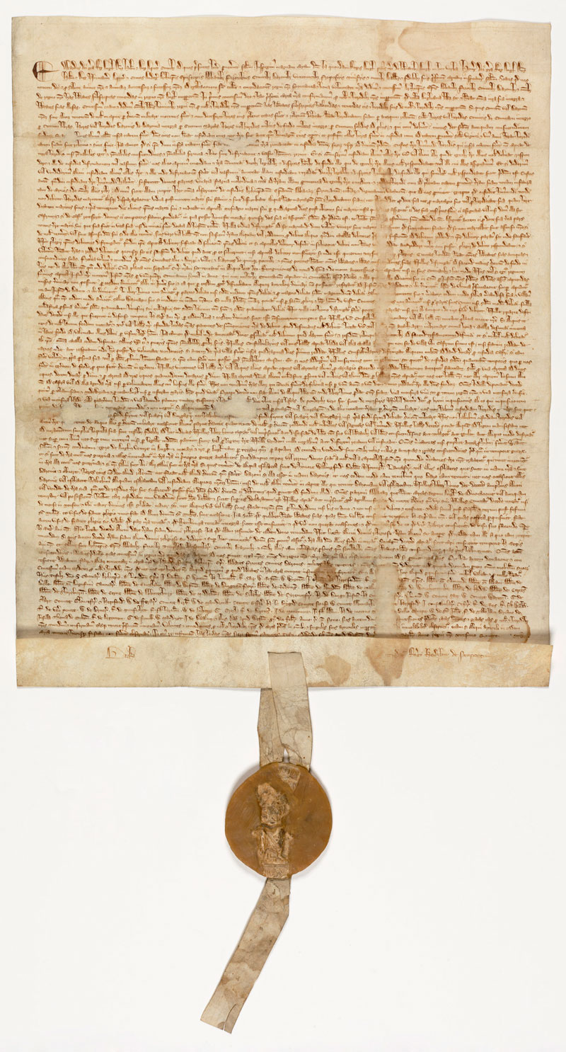 Magna Carta, 1297 - U.S. national archive and records administration (courtesy of David M. Rubenstein).