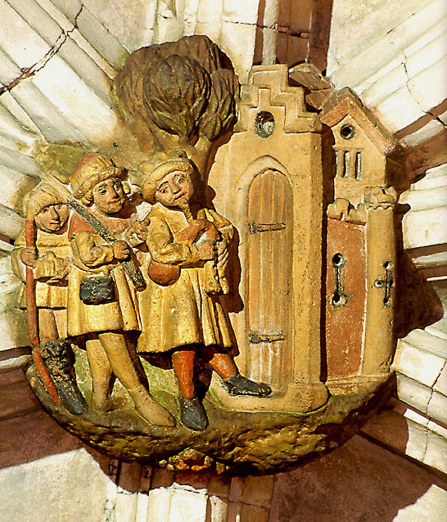 Annuncio ai pastori (ingresso a Betlemme) - Cattedrale di Norwich, transetto nord - inizi XV secolo