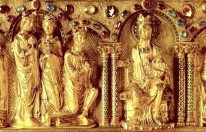 Adorazione dei Magi - Dettaglio dell'Arca dei Magi (Dreikönigenschrein) - Duomo di Colonia