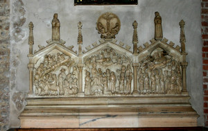 Adorazione dei Magi - Polittico in marmo sopra l'altare della cappella dei Magi - Sant'Eustorgio - Milano