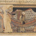 Maometto alla Mecca, Rashid al-Din, Jami' al-Tawarikh (Storia del mondo), Persia, 1307 ca., Edinburgh University Library, Or. Ms. 20, F. 45r