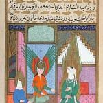 Kadija, Gabriele e Maometto, Siyer-i Nebi (Vita del Profeta), miniatura ottomana, 1595, Topkapi Sarayi Müzesi, Topkapi Sarayi Museum Library, Istanbul, Turkey