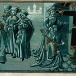 Mâcon, Biblioteca Municipale, ms. 3. Storia del Volto Santo: l'ingresso nella città di Lucca. Jacobus de Varagine, Legenda aurea, traduttore Jean de Vignay, continuatore Jean Golein, datazione  ca. 1470