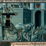 Mâcon, Biblioteca Municipale, ms. 3. Storia del Volto Santo: il vescovo di Lucca a Luni. Jacobus de Varagine, Legenda aurea, traduttore Jean de Vignay, continuatore Jean Golein, datazione  ca. 1470