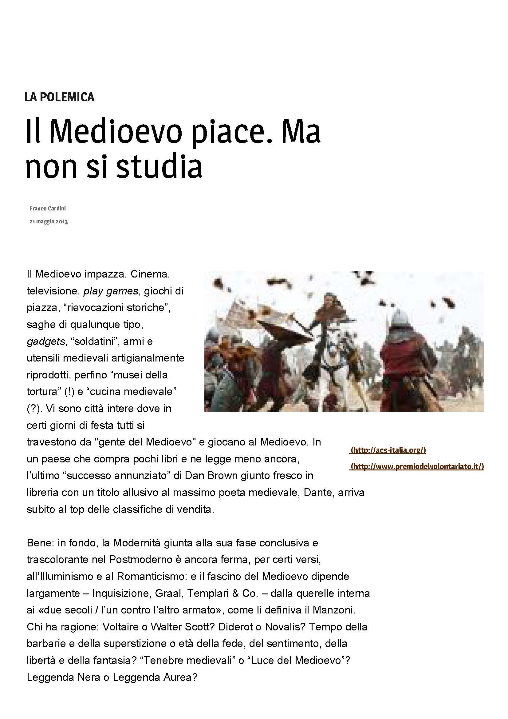 Il Medioevo piace. Ma non si studia _ Cultura _ www.avvenire_Pagina_1